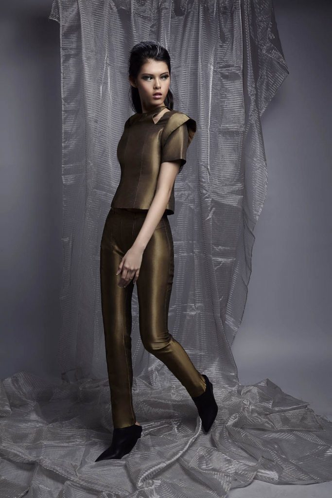 gold-top-and-long-pants